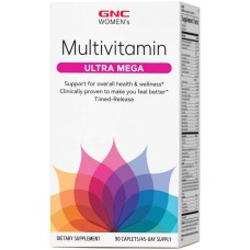 GNCウィメンズウルトラメガマルチビタミン、90カプレットは、女性の全体的な健康とウェルネスをサポートします