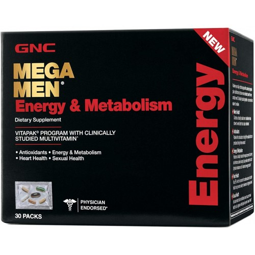 GNCメガメン(エネルギー&メタボリズム)VitaPak30パック