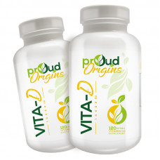 Proud Origins ビタミンD10000IU120ソフトジェル 2個セットすべての天然ビタミンD3 ビタミンd サプリ 最近話題の成分、ビタミンD3オススメ 太陽のビタミン 配合のビタミンD3サプリメント