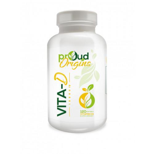 Proud Origins ビタミンD10000IU120ソフトジェル すべての天然ビタミンD3 ビタミンd サプリ 最近話題の成分、ビタミンD3オススメ 太陽のビタミン 配合のビタミンD3サプリメント