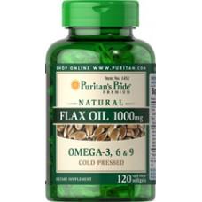 フラックスシードオイル(亜麻仁油)1000 mg.