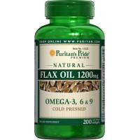 フラックスシードオイル(亜麻仁油) 1200 mg.