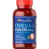 オメガ3 魚油(フィッシュオイル) 1200 mg.