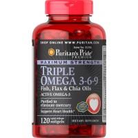 トリプルオメガ-3-6-9 魚油・亜麻油・チアオイル配合