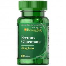 グルコン酸鉄 (28 mg. アイアン)