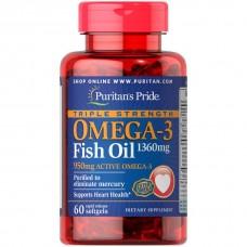 濃縮オメガ3フィッシュオイル 1360 mg.