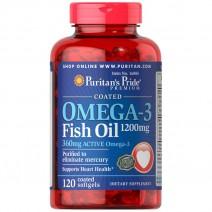 オメガ3 魚油(フィッシュオイル)1200 mg. コーティングタイプ