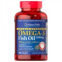ダブルストレングス・オメガ3 フィッシュオイル 1200 mg.