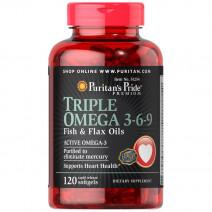 トリプルオメガ3-6-9フィッシュオイル(魚油) フラックスシードオイル(亜麻仁油)